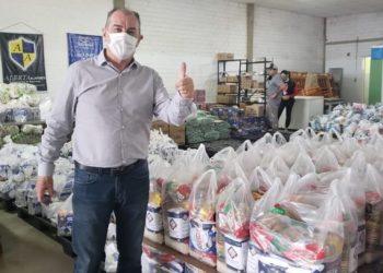 Trabalho é coordenado pelo secretário municipal de Governança e coordenador-geral do Comitê de Solidariedade ao Enfrentamento do Coronavírus, Luiz Zaffalon — Foto: PMG