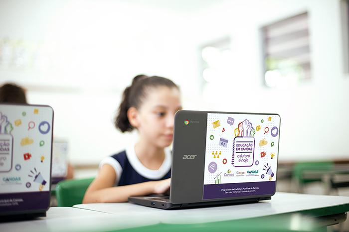 Google for Education começou a ser implementado no Município ainda no ano passado — Foto: Cristiano Júnior