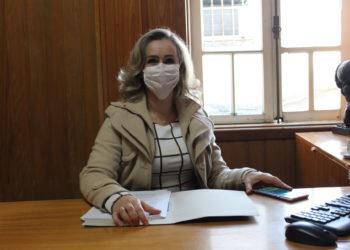 Primeira-dama Patrícia Bazzoti Alba está à frente da Campanha do Agasalho, junto da SMFCAS, e do projeto 'Máscaras do bem' — Foto: Rafael Trajano