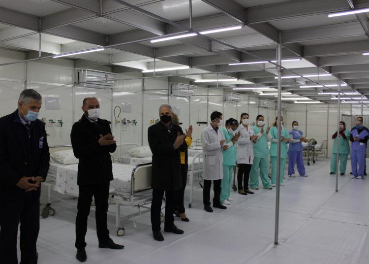 Hospital de Campanha foi inaugurado por Prefeitura e Santa Casa — Foto: Rafael Trajano